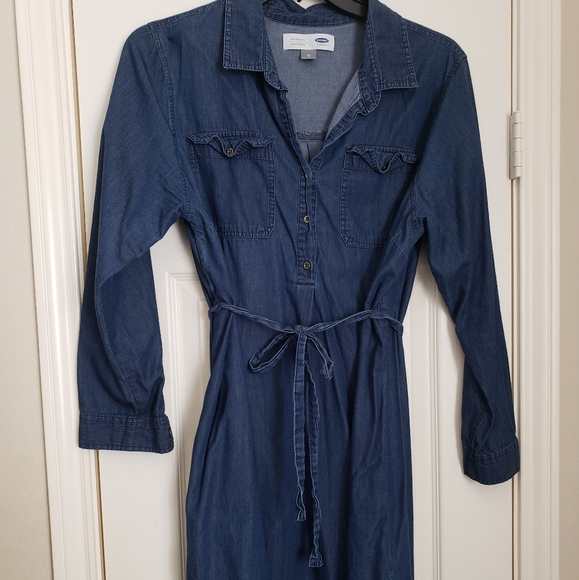 Old Navy Dresses Old Navy Denim Maternity Dress Poshmark
